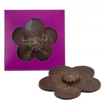 """Ma fleur "" en chocolat noir"