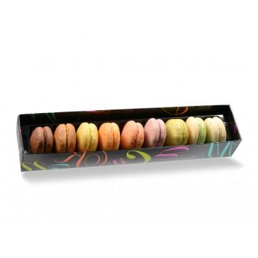 Coffret de 9 macarons assortis