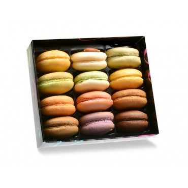Coffret 12 macarons traditionnels