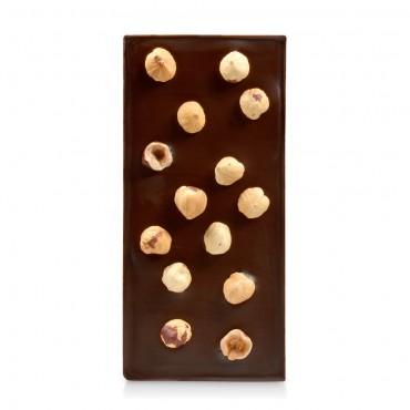 Tablette chocolat sans sucres noir aux noisettes
