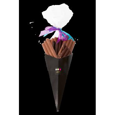 Cône chocolat à offrir lait et noir
