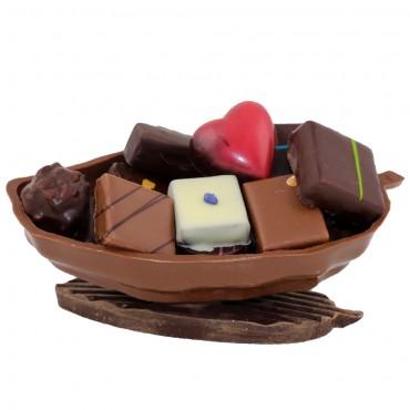 cabosse en chocolat garnie